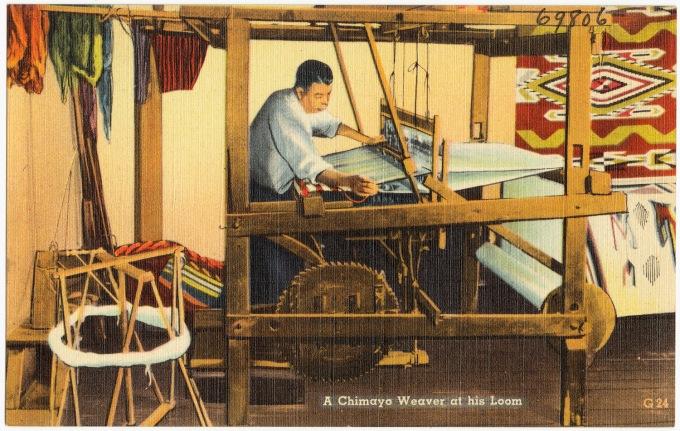 A_Chimayo_weaver_at_his_loom
