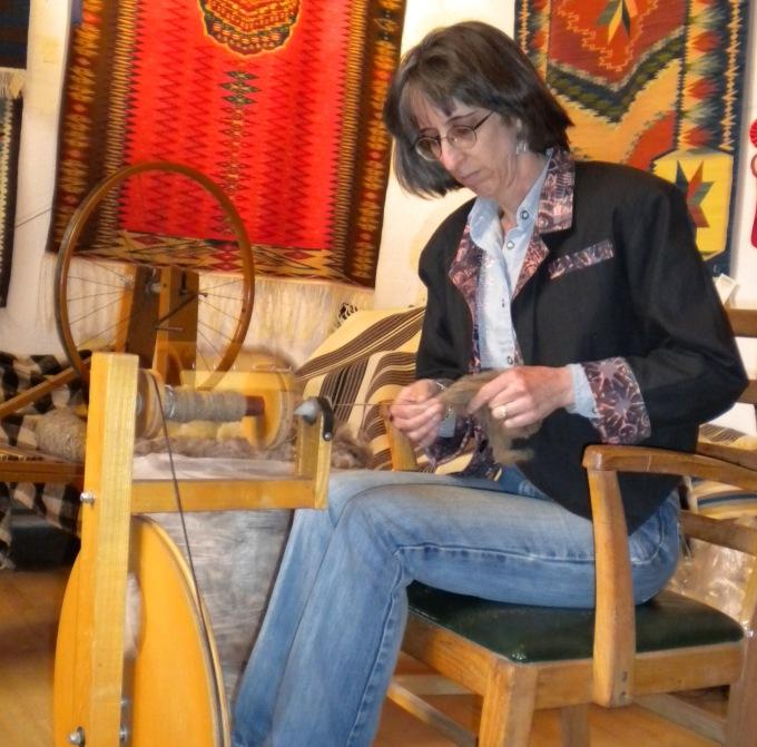 Lisa Trujillo spinning